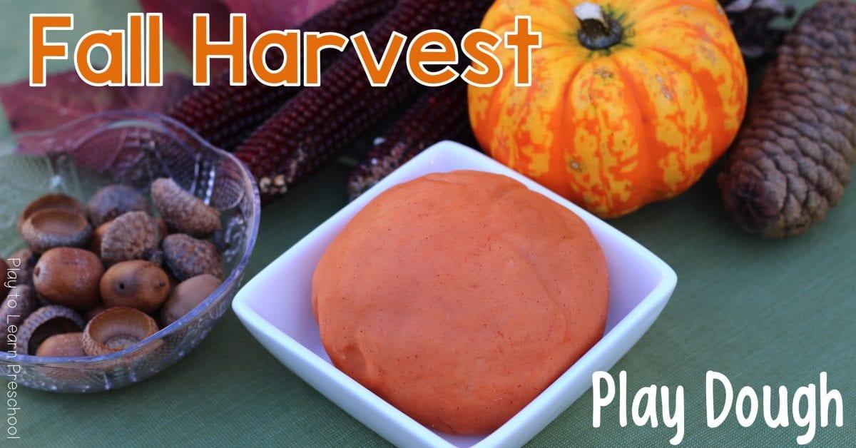 Autumn Fall Harvest Play Dough