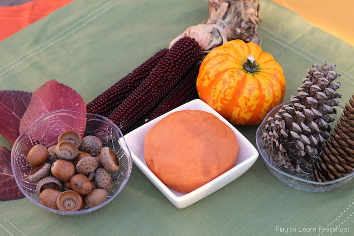 Fall Harvest Play Dough