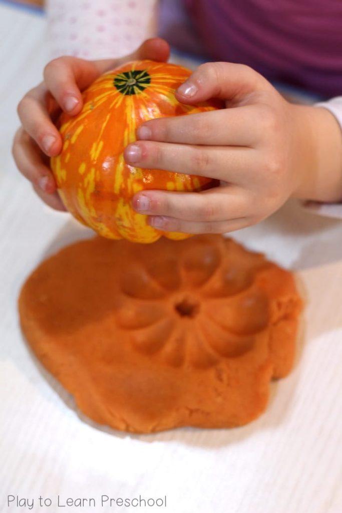 Fall Harvest Play Dough
