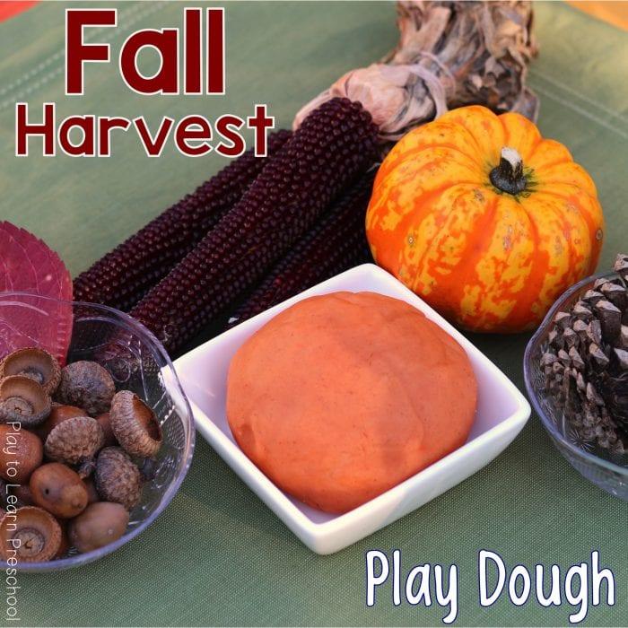 Fall Harvest Autumn Play Dough