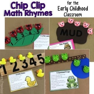 Free Printable Chip Clip Rhymes for Preschoolers