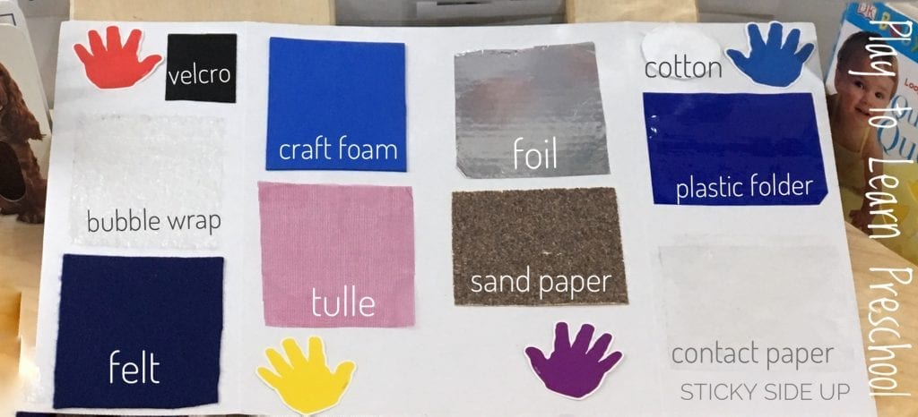 Sense of Touch Preschool Science Center
