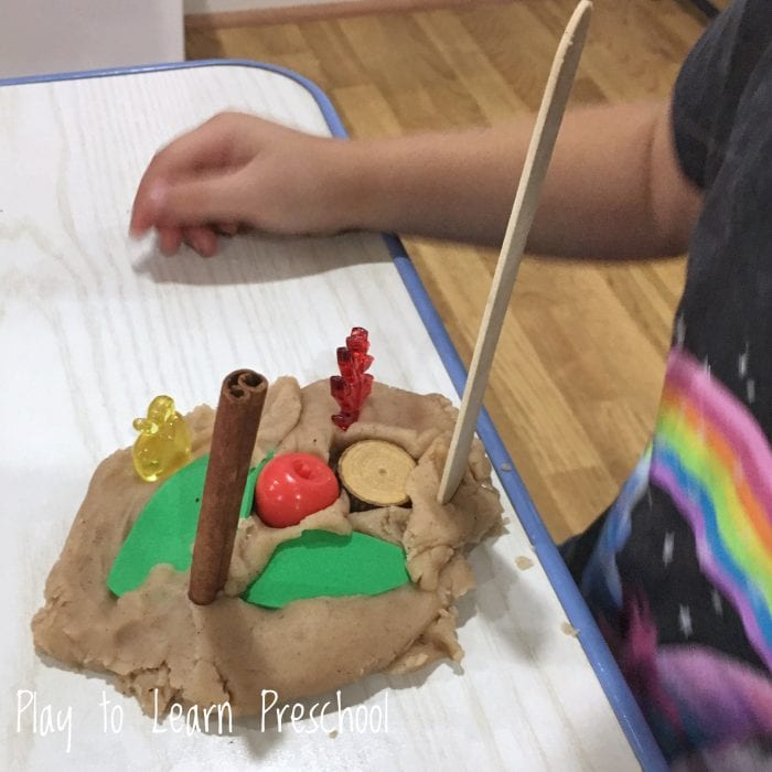 Apple Cinnamon Play Dough Invitation to Play
