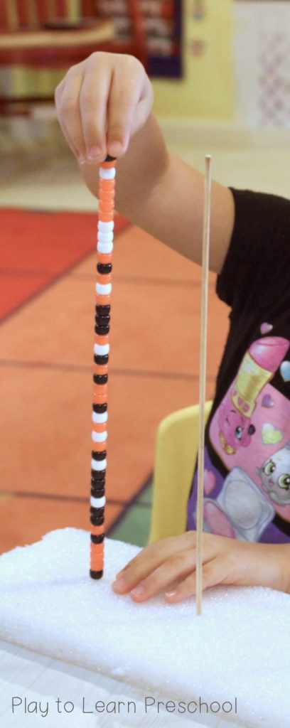 Halloween Beads Fine Motor Center Activity