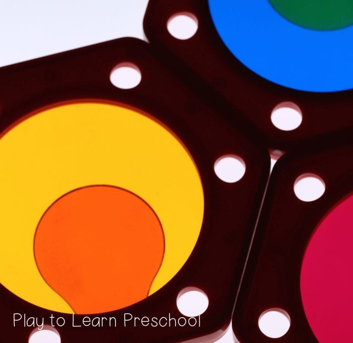 Color Theory Activities on the Light Table