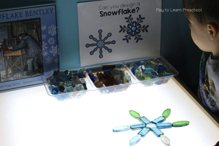 Design Snowflakes on the Light Table