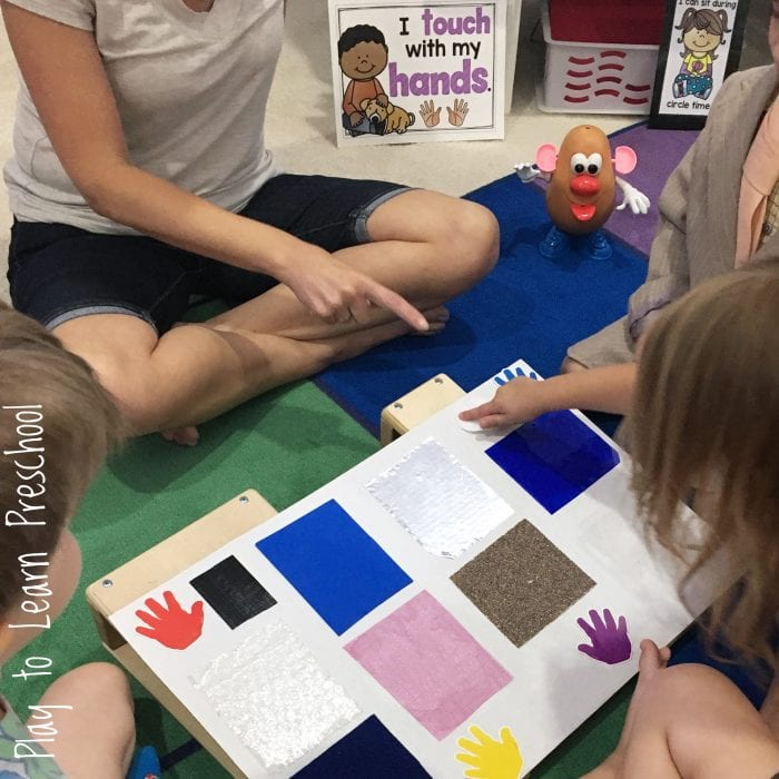 Sense of Touch Circle Time Lesson