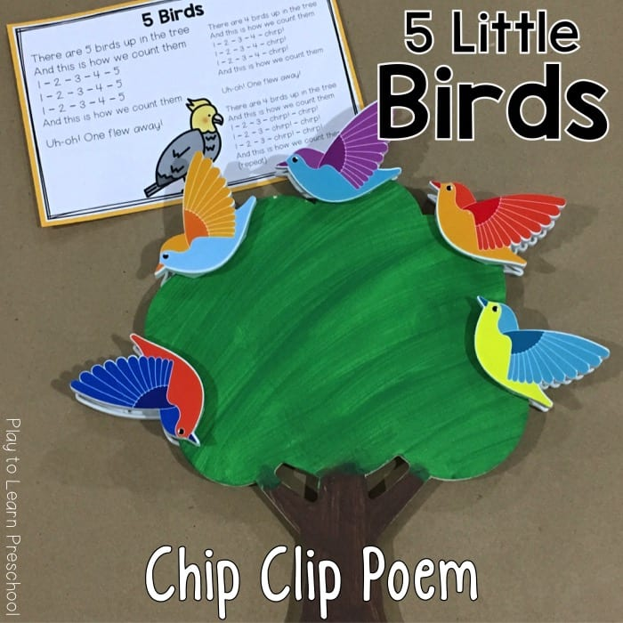 Beautiful Birds Chip Clip printable poem