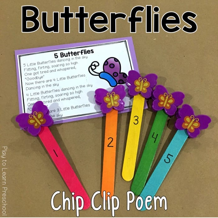 Butterfly Chip Clip Poem