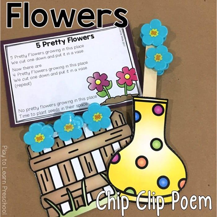 Flower Chip Clip Poem