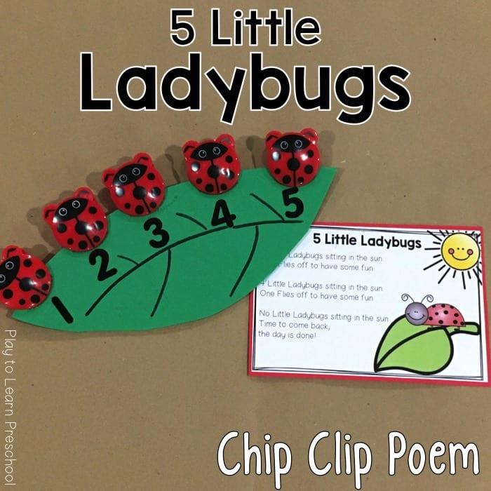 Ladybug Chip Clip Poem