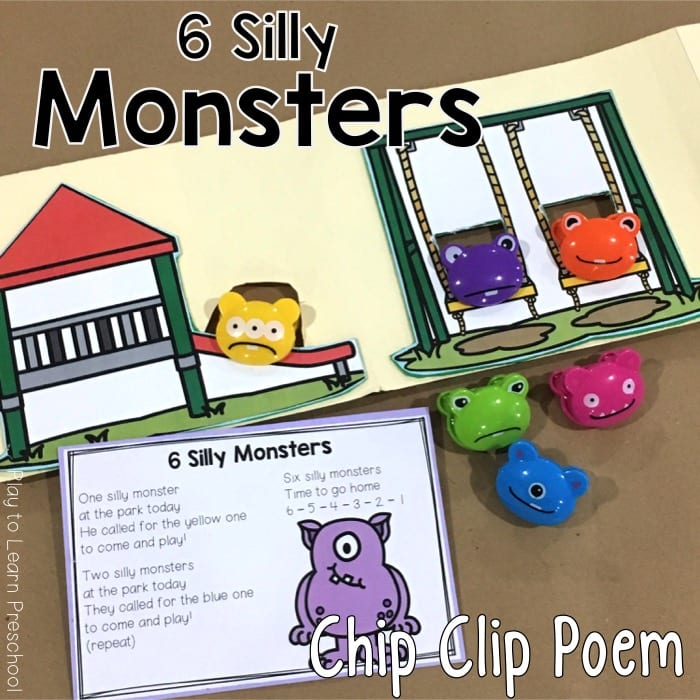 Monster Chip Clip Poem