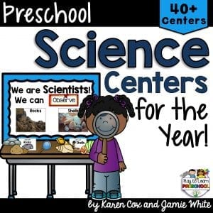 Preschool Science Center Lesson Plans for the year