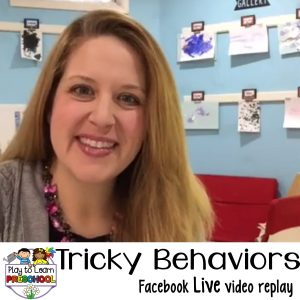 How to handle tricky behavior in the preschool classroom