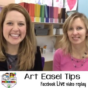 Preschool art easel tips