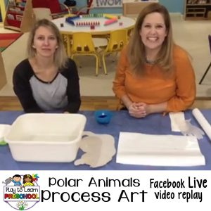 Preschool process art polar animals