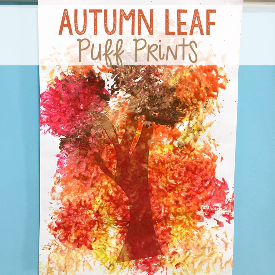 Autumn Leaf Puff Prints