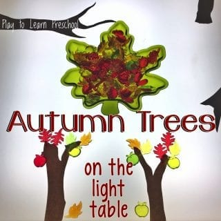 Autumn Tree Art on the Light Table