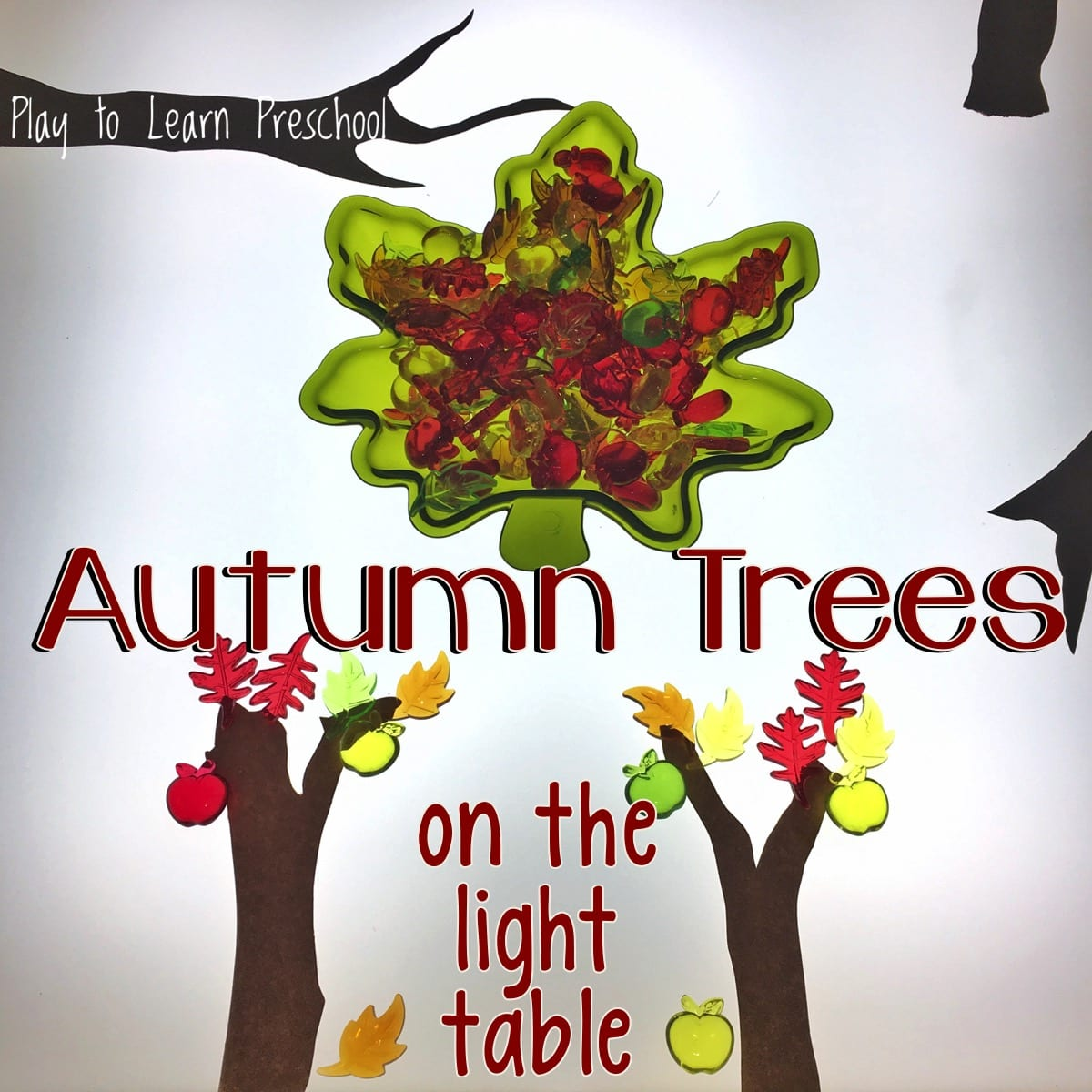 Autumn Tree Art on the Light Table