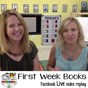 Best Books for the First week of Preschool