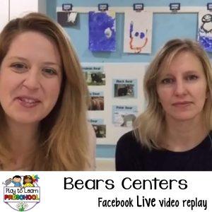 Bears centers for preschoolers