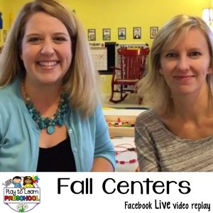fall Autumn centers for preschoolers