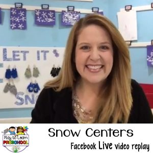 Winter Snow Centers for preschoolers