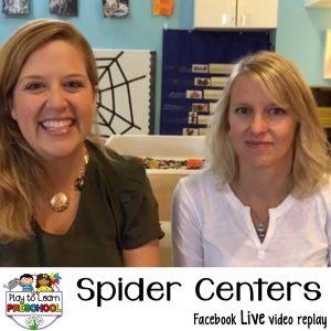Spider centers for preschoolers