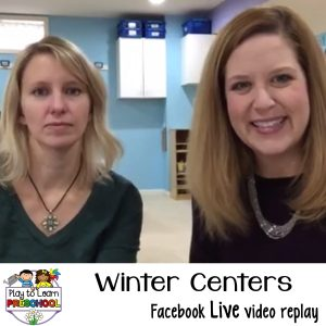 Winter centers for preschoolers