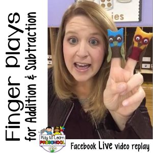 Fingerplays Rhymes and Chip Clip Poems for Preschoolers