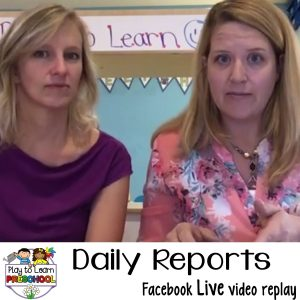 Classroom Daily Reports for Preschool