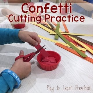 Confetti Cutting Practice Process Art and Free Printable