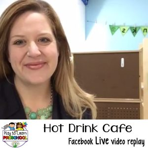 Hot Drink Cafe Dramatic Play Center Preschool