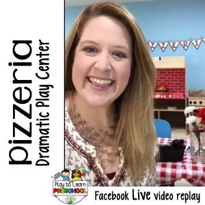 Pizza Parlor Dramatic Play Center Preschool