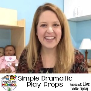Simple Dramatic Play Props