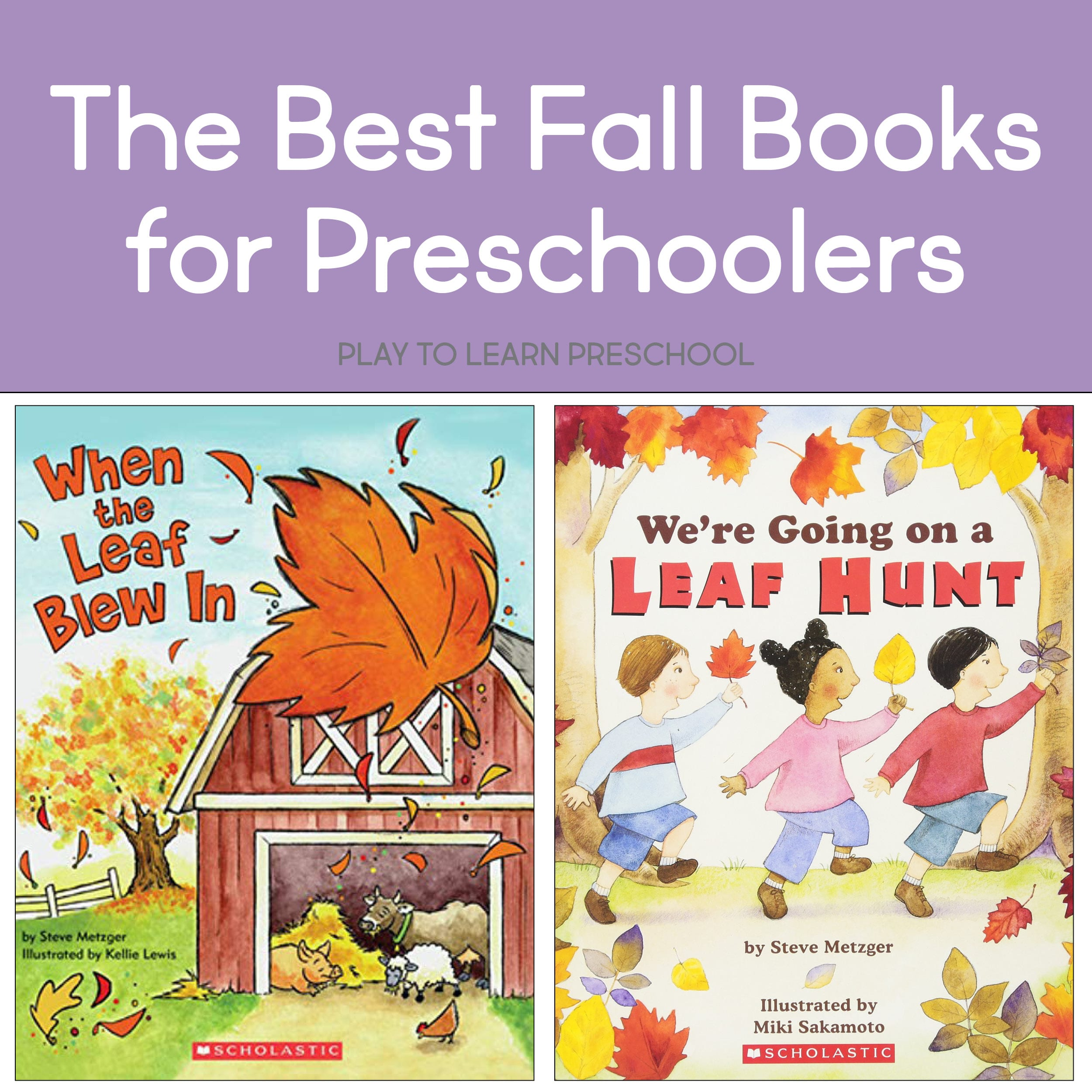The Best Fall (Autumn) Books to Read Aloud to Preschoolers