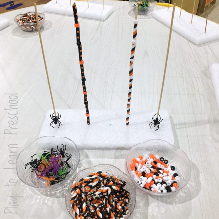 Halloween Bead Tower Fine Motor Center