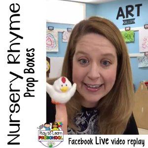Nursery rhyme prop box