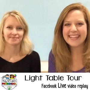 Why you need a light table in your preschool classroom