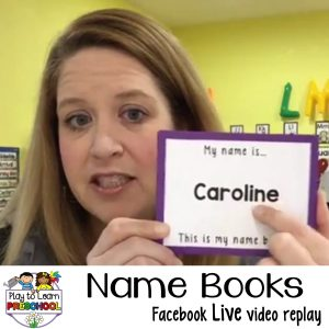 Name Books for Preschoolers