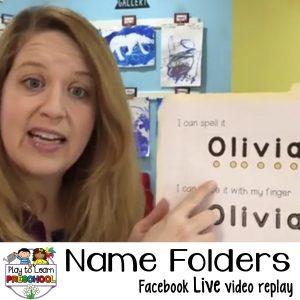 Name Folders for Preschoolers