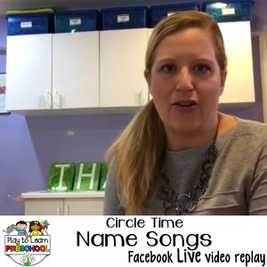 Name Songs Editable circle time songs