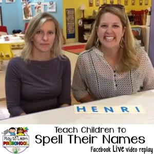 How to teach children to spell their names