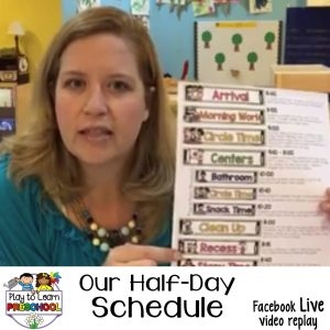 How to organize a half day preschool schedule
