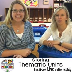 How to organize and store thematic units and activities