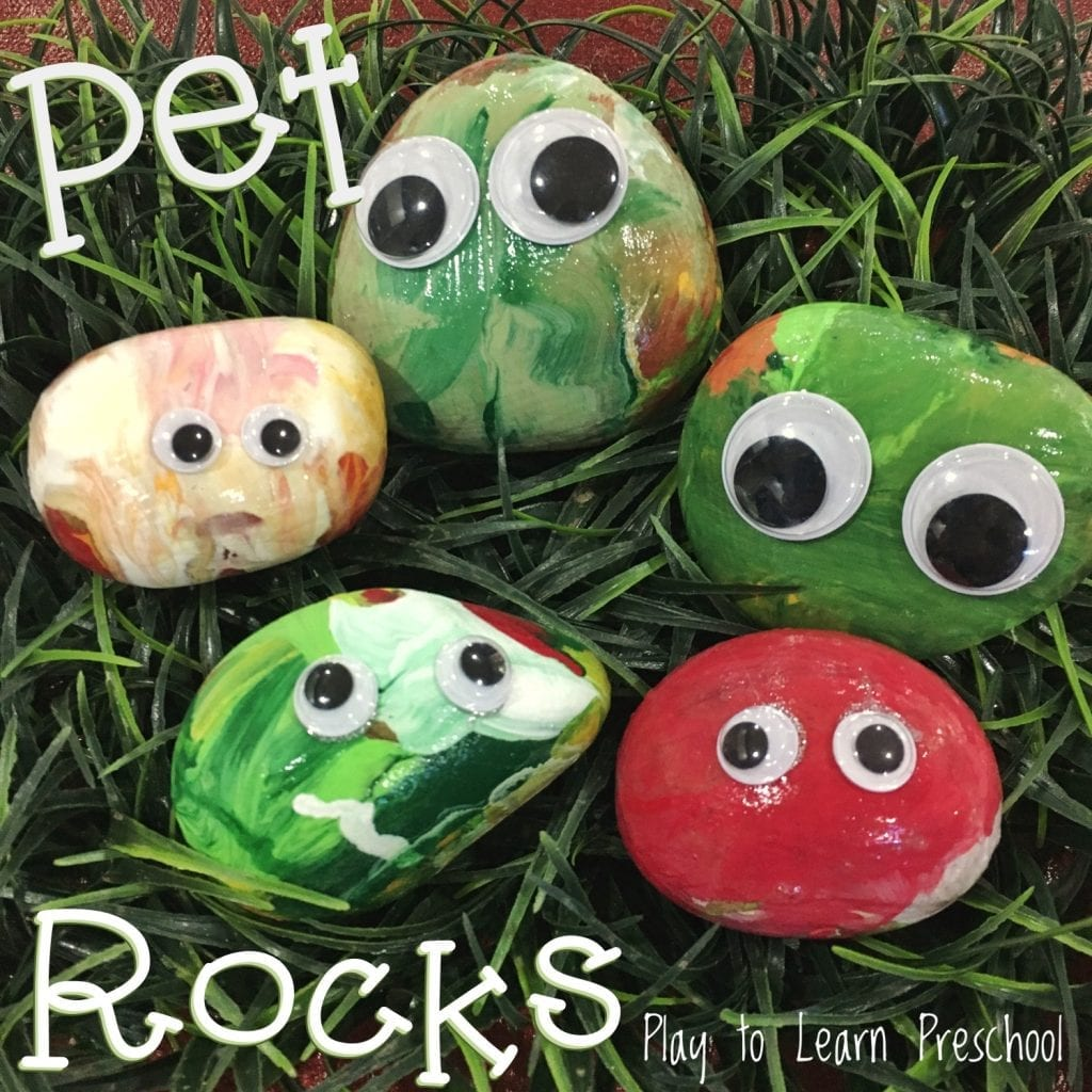 Pet Rock Process Art Project for preschoolers