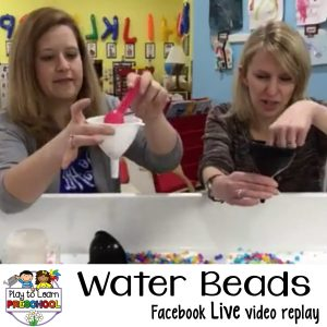 Sensory Water Beads sensory table play