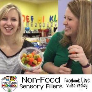 Sensory non food sensory bin fillers