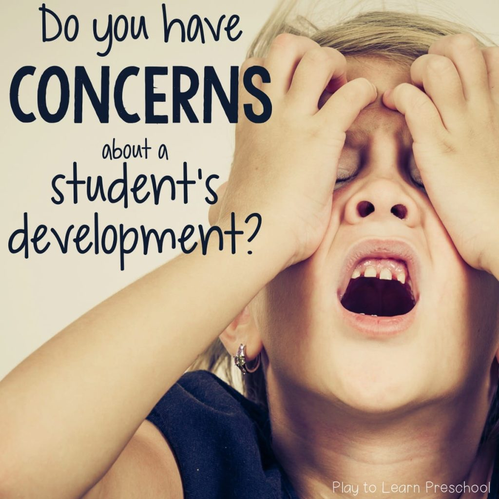 What to do when you have concerns about a student's behavior or development