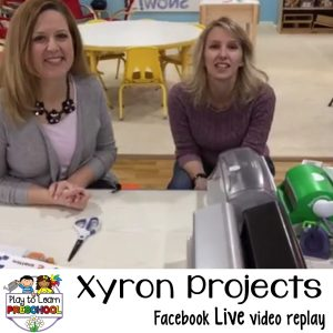Xyron projects for the preschool classroom